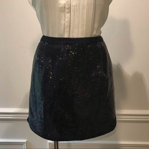 J Crew Navy Sequence Mini Skirt